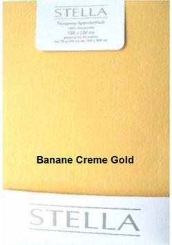 """Jersey - Fixleintuch für Boxspringbetten  """"Banane - Creme - Gold"""""""