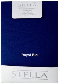 "Jersey - Fixleintuch für Boxspringbetten  ""Royal Blau"""