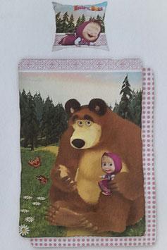 Jugend- und Kinderbettwäsche Masha und der Bär