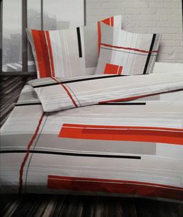 Satin Bettwäsche TOP MARKE LOTUS Swiss Design Sunday Orange