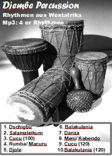 MP3 (download): Groove- und Playalong, 4er Rhythmen