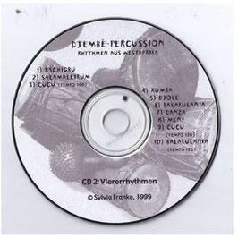 Groove- und Playalong CD 4er Rhythmen