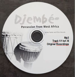 """Mp3 (download) Ibro Konate & Friends: Original Recordings to the Ebook """"Djembe Percussion from Westafrica"""""""
