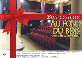 """Bon cadeau pour """"Au fond du bois"""" mars 2018"""