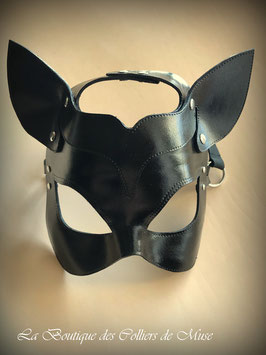Masque de chat en cuir