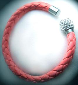 Armband Kunstleder lachsfarben