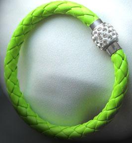 Armband Kunstleder Neon-Grün