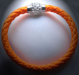 Armband Kunstleder Neon-Orange