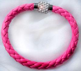 Armband Kunstleder Neon-Pink