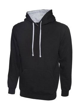 Hoodie miz Zipper 2-farbig S bis 5XL