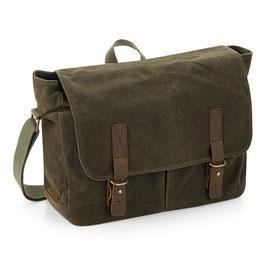 gewachste Baumwolle Messenger Bag