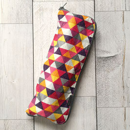 Regenschirmhülle Dreiecke violett