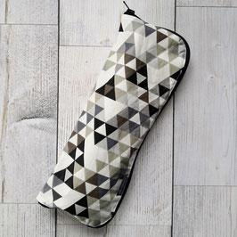 Regenschirmhülle Triangle beige/schlamm/schwarz