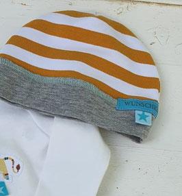 "Mütze ""Stripes & Curry"" doppellagig"
