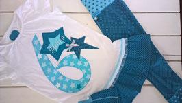 """3 teiliges Geburtstagsset """"Melina"""" - bestehend aus Geburtstags-Shirt, Leggins und Stirnband"""