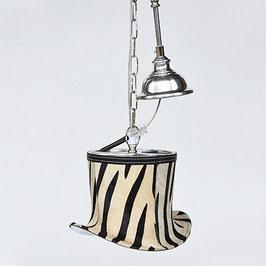 Hazenkamp Hängeleuchte  Zylinder Zebra Hut 26x21x18 cm