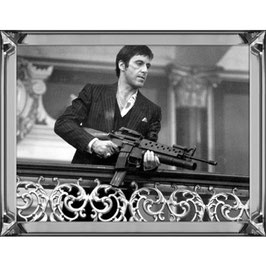 Hazenkamp Picture Al Pacino Scarface with machinegun 80x60 cm