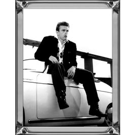 Hazenkamp Picture James Dean and his speedster black/white 60x80 cm