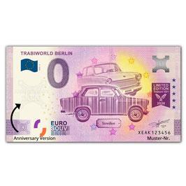 Null Euro-Schein TRABIWORLD BERLIN, Anniversary Version