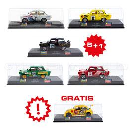 Set 5x Slotcar TLRC 601 + 1x Gratis 1:32