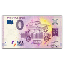 Null Euro-Schein TRABIWORLD BERLIN, Normalversion