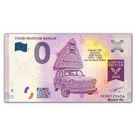 Null Euro-Schein TRABI-MUSEUM BERLIN, Normalversion