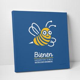 """Leinwanddruck """"Bienen – Garanten eines natürlichen Brummens"""""""