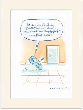 """Originalzeichnung """"Hintertürchen"""""""
