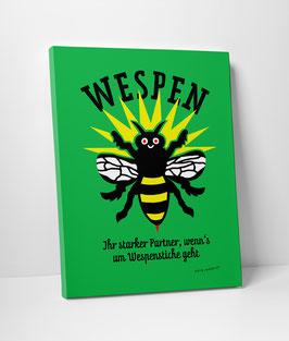 """Leinwanddruck """"Wespen – Ihr starker Partner, wenn's um Wespenstiche geht"""""""