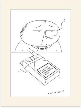 """Originalzeichnung """"Rauchen kann todlangweilig sein"""""""