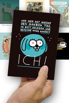 "Postkarten-Set ""Tag im Bett"""