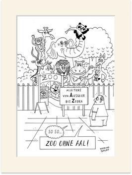 """Originalzeichnung """"Zoo ohne Aal"""""""
