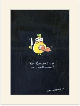 """Originalzeichnung """"Der Herr noch was an Wurst dazu?"""""""