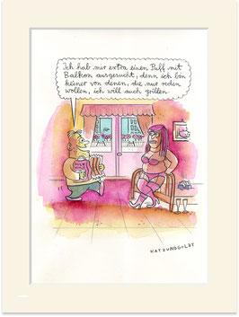 """Originalzeichnung """"Puff mit Balkon"""""""