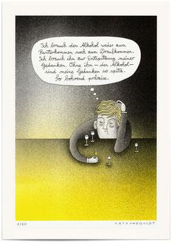 """Risographie """"Spitze Gedanken"""""""