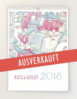 Katz & Goldt-Wandkalender 2018