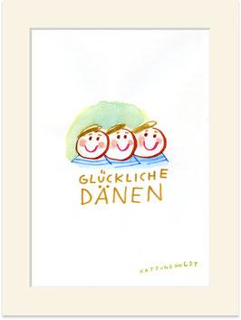 """Originalzeichnung """"Glückliche Dänen"""""""