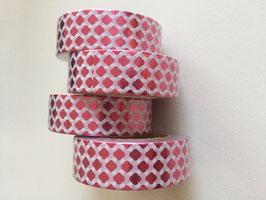 Washi Tape Waben pink foil