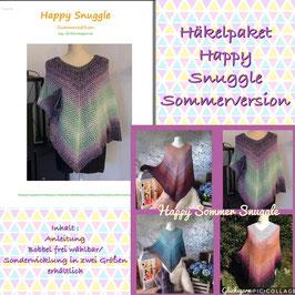Poncho Happy Snuggle Sommerversion Häkelpaket  in zwei Größen