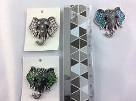 Magnetbroschen Elefant mit Strasssteinen