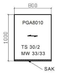 Podestrost mit Flacheinfassung mit Antrittskante MW 30x30 mm