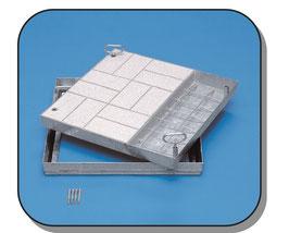 Schachtabdeckung, wählbare Oberfläche, Stahl