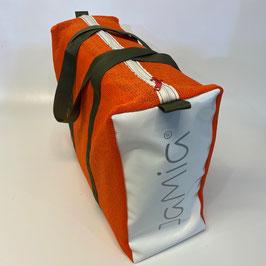 BEACH-XXL orange-olive-weiss