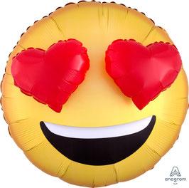 "Folienballon 28""- Love Emoji - 3D effect"