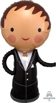 """Folien Ballon 19"""" x 40""""XXL - Handsome Groom"""