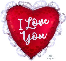 "Folienballon 23"" - I Love You"