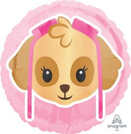 "Folienballon 17"" - PAW Patrol Skye Emoji"