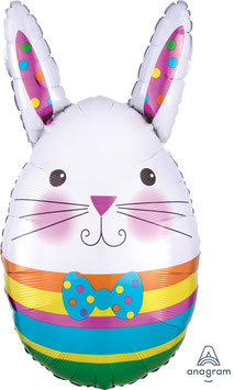"Folien Ballon 13"" x 25"" - Bunny Egg"