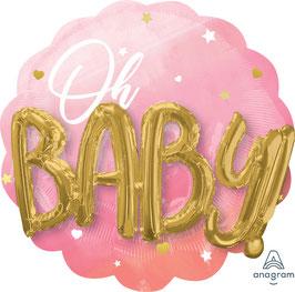 """Folien Ballon 30"""" - Blue Baby Girl"""