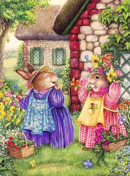 Кролики в саду (М-11)